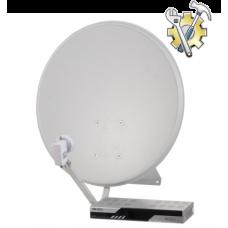 Установка системы спутникового телевидения (тарелка 90см)